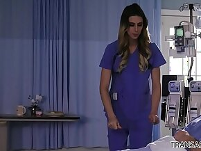 Shemale nurse releases more than just the patient - Casey Kisses